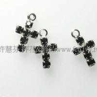 黑色十字架形晶鑽-7.7x13mm2個