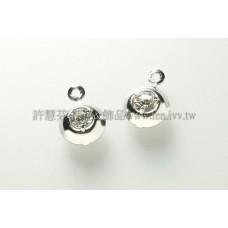 圓形水鑽墜飾-8.4mm-5個