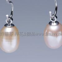 膚粉珍珠墜飾-6mm-2個