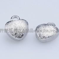 霧彩立體心形單孔配件-9.3x7.4mm-2個