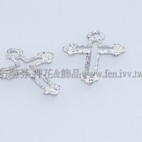 霧彩十字架形單孔配件-14x10mm-10個
