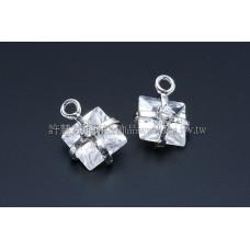 禮物形晶亮鋯石-10mm-2個