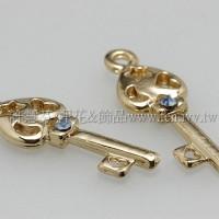 水鑽造型金色鑰匙-24*8.1mm-2個