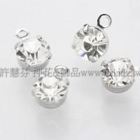 透明色單洞爪鑽墜飾正白-3mm-10個