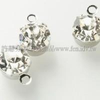4mm透明色單孔爪鑽墜飾正白-10個