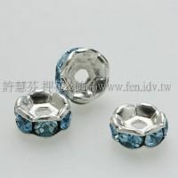 8mm扁圓形銀彩隔珠-7個