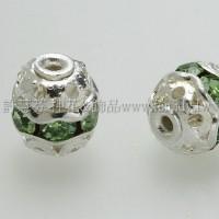 7mm圓球形銀彩隔珠-6個
