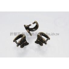 蝴蝶形墜飾夾頭青古美-7.5mm-4個