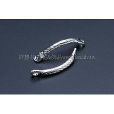 雙孔螺旋彎曲連接配件代白15mm-8個