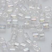 1.5mm方管日本珠-透明彩虹水晶色-5g