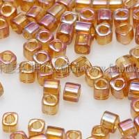 1.5mm方管日本珠-透明彩虹黃玉色-5g