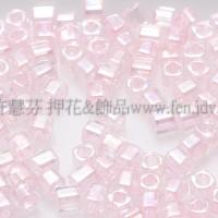 1.5mm方管日本珠-透明彩虹芭蕾粉紅色-5g