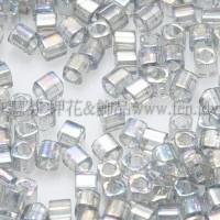 1.5mm方管日本珠-透明彩虹灰鑽石色-5g