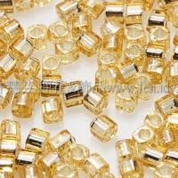 1.5mm方管日本珠-黃水晶灌銀色-5g