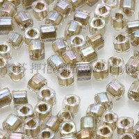 1.5mm方管日本珠-七彩水晶光內鑲金色-5g