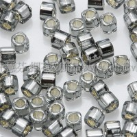 1.5mm方管日本珠-灰色灌銀色-5g