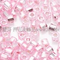 1.5mm方管日本珠-粉紅灌銀色-5g