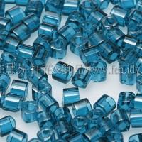 1.5mm方管日本珠-透明卡普里藍色-5g