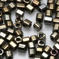 1.5mm方管日本珠-金屬咖啡鳶尾花色-5g