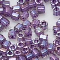 1.5mm方管日本珠-水蜜桃光內鑲不透明紫色-5g