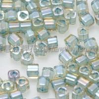 1.5mm方管日本珠-彩虹黃水晶內鑲海洋泡泡色-5g