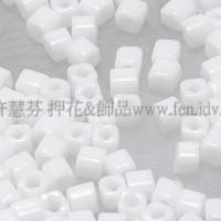 1.5mm方管日本珠-不透明雪白色-5g