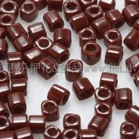 1.5mm方管日本珠-不透明深紅咖啡色-5g