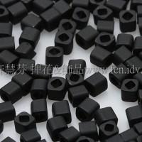 1.5mm方管日本珠-不透明霧面黑色-5g