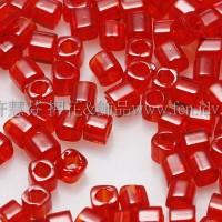 1.5mm方管日本珠-透明紅色-5g