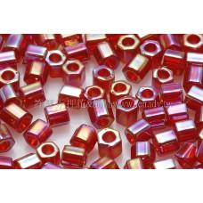 3mm方管日本珠彩虹紅葡萄酒色--10g