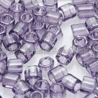 3mm方管日本珠透明紫紅色--10g