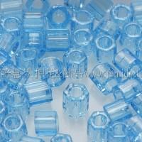 3mm方管日本珠透明海藍寶石色--10g