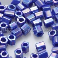 3mm方管日本珠不透明彩虹海軍藍色--10g