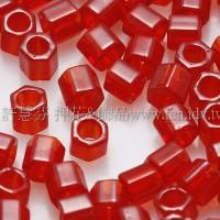 3mm方管日本珠彩虹紅寶石色--10g
