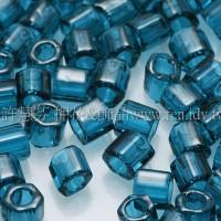 3mm方管日本珠透明卡普里藍色--10g