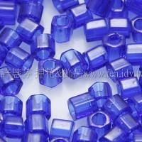 3mm方管日本珠透明鈷藍色--10g