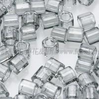 3mm方管日本珠透明灰鑽石色--10g
