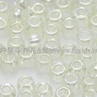 3mm圓管日本珠透明彩虹檸檬樹色--10g