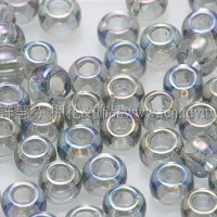 3mm圓管日本珠透明彩虹灰鑽石色--10g