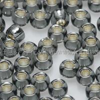 3mm圓管日本珠灰內灌銀色--10g
