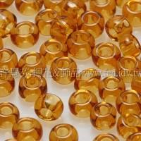 3mm圓管日本珠透明黃玉色--10g