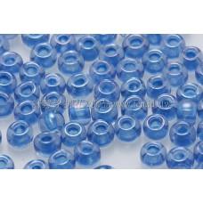 3mm圓管日本珠天藍內鑲不透明藍色--10g