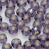 3mm圓管日本珠紫灌銀色--10g