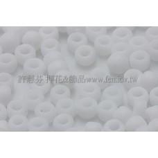 3mm圓管日本珠不透明霜雪白色--10g