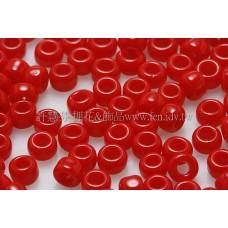 3mm圓管日本珠不透明櫻桃紅色--10g