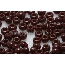 3mm圓管日本珠不透明深咖啡紅色--10g