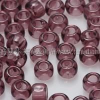 3mm圓管日本珠透明紅紫色--10g