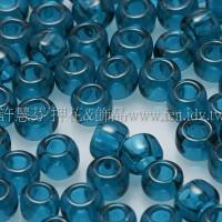 3mm圓管日本珠透明卡普里藍色--10g