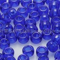 3mm圓管日本珠透明深藍色--10g