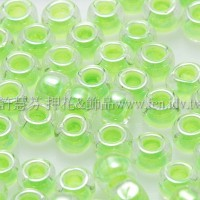3mm圓管日本珠亮彩螢光綠色--10g
